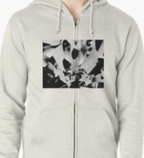 Succulent in black and white Zipped Hoodie