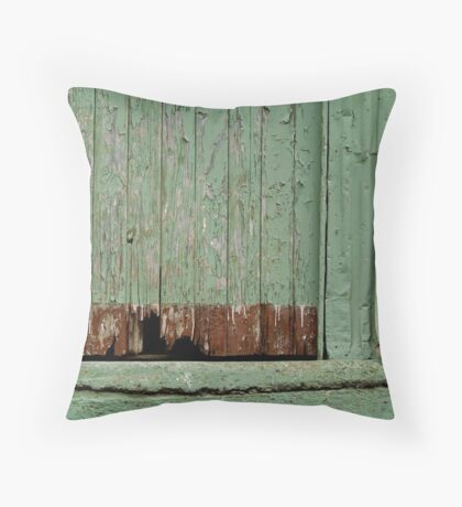 Old Loading Dock Throw Pillow