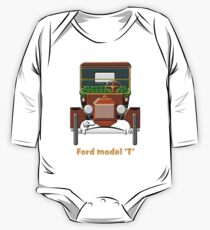 1908 Cabriolet Ford Model T  One Piece - Long Sleeve