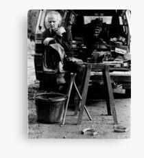 Working Lunch portrait (35mm) Canvas Print
