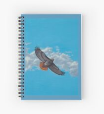 """""""Freedom on the Wing"""" Red tailed Hawk in Flight Spiral Notebook"""