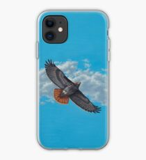 """Freedom on the Wing"" Red tailed Hawk in Flight iPhone Case"