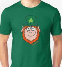 St Paddy's Day Leprechaun Smiling T-Shirt