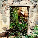 """La Casa En Ruinas"" Oil painting of an old Mexican door by James  Knowles"