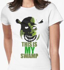 This is my swamp - Shrek is love. Shrek is life. Women's Fitted T-Shirt
