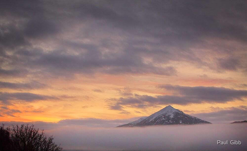 Misty Sunrise over Schiehallion by Paul  Gibb