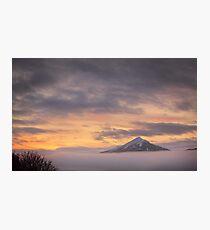Misty Sunrise over Schiehallion Photographic Print