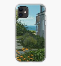 """The Cottage"" oil painting by Reed A Prescott III iPhone Case"