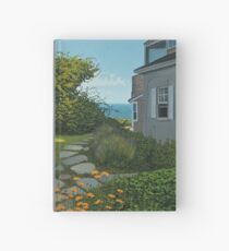 """The Cottage"" oil painting by Reed A Prescott III Hardcover Journal"