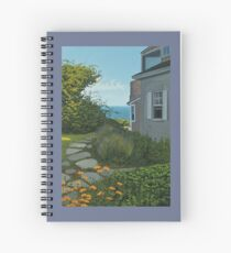 """""""The Cottage"""" oil painting by Reed A Prescott III Spiral Notebook"""