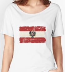 Austria Flag - Vintage Look Women's Relaxed Fit T-Shirt