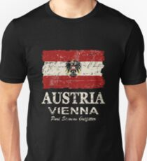 Austria Flag - Vintage Look T-Shirt