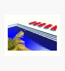 Pool Deck Art Print