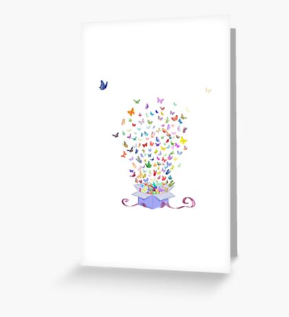 Butterflies in a box Greeting Card