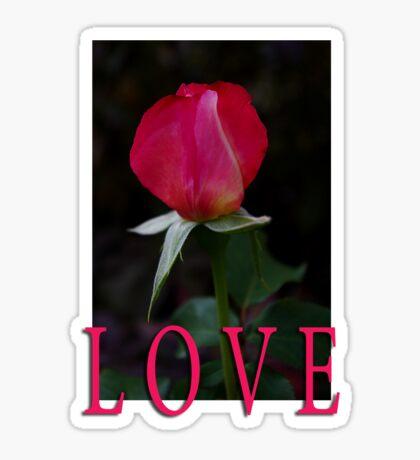 rosebud love t Sticker