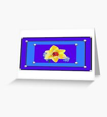 Daffodil with tears  Greeting Card