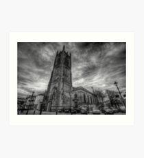 Derby Cathedral B&W Art Print