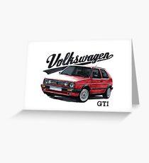 volkswagen golf mk.2 Greeting Card