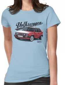 volkswagen golf mk.2 Womens Fitted T-Shirt