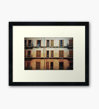 Open and Shut Framed Print