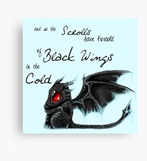 Black Wings Canvas Print