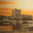 Carrickfergus Castle at dawn by Hilary Robinson