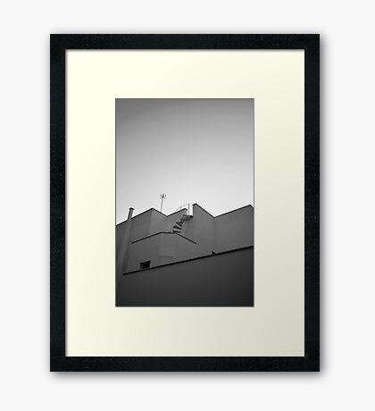 The sky & a building. Framed Print