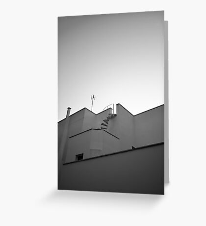 The sky & a building. Greeting Card