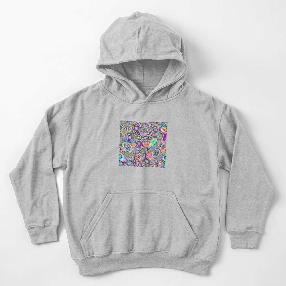 Abstraction #E Kids Pullover Hoodie