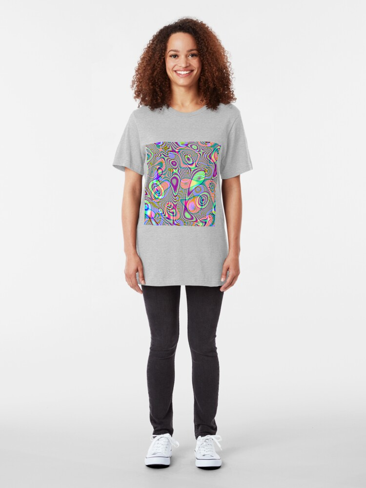 Alternate view of Abstraction #E Slim Fit T-Shirt