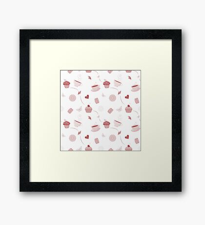 Teacups and sweets Framed Print