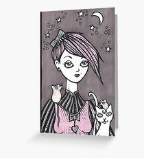Moonlit Melody Greeting Card