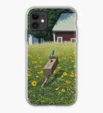 """Where's Mother"" oil painting by Reed Prescott iPhone Case"