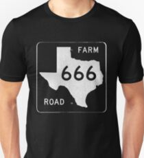 Texas Farm Road 666 Unisex T-Shirt