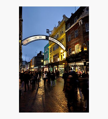 Carnaby St after dark Photographic Print