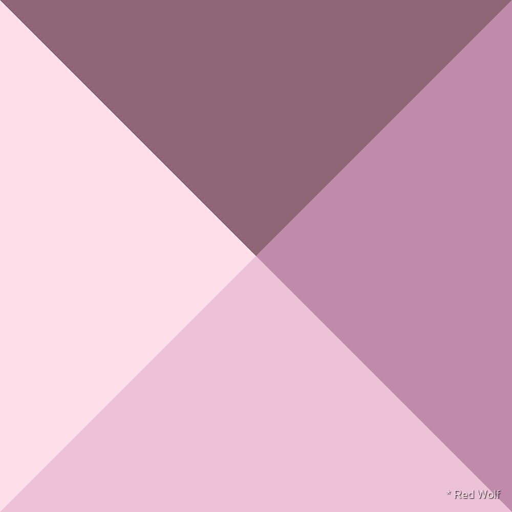 Geometric Pattern: Pyramid: Dusty Rose by * Red Wolf