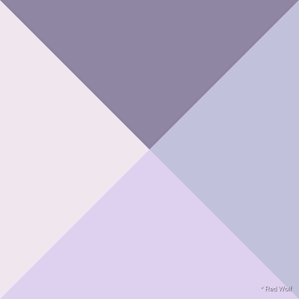 Geometric Pattern: Pyramid: Lilac by * Red Wolf