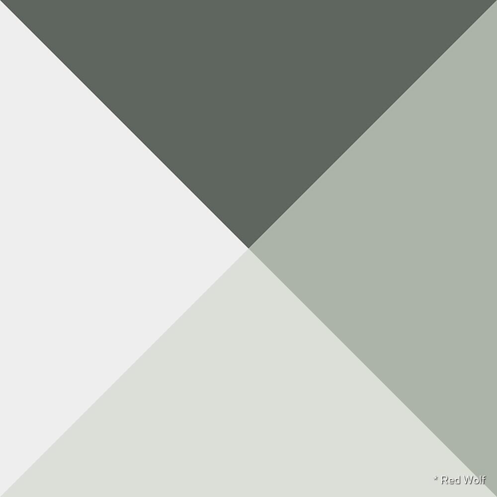Geometric Pattern: Pyramid: Moss by * Red Wolf