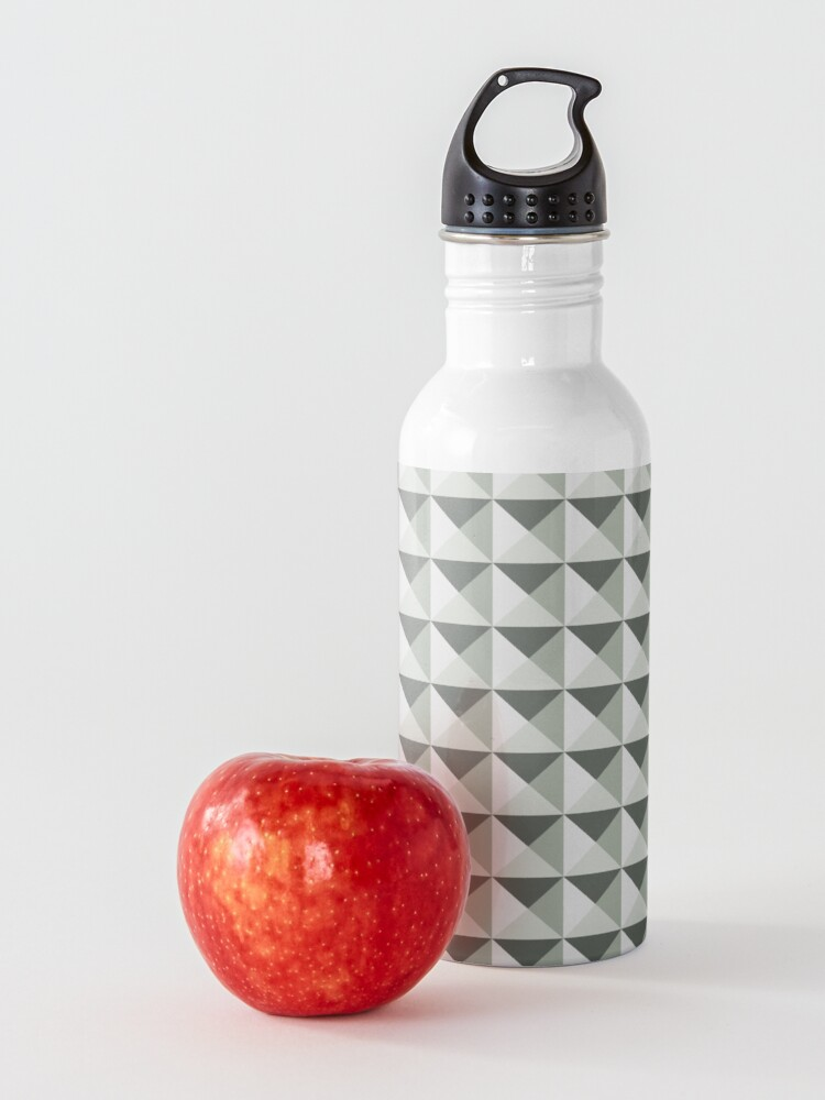 Alternate view of Geometric Pattern: Pyramid: Moss Water Bottle