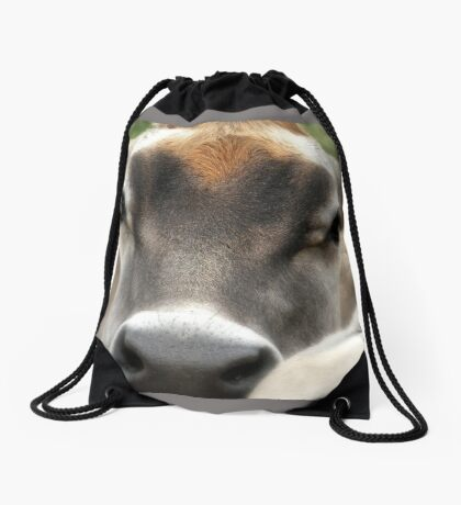 Cow  Eyes Drawstring Bag