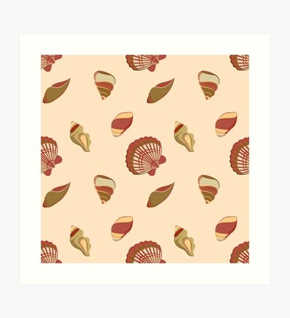 Candy seashells Art Print