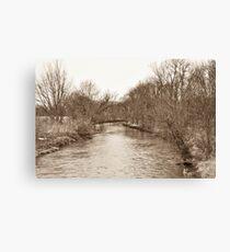 Parker City Stream Canvas Print