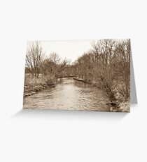 Parker City Stream Greeting Card