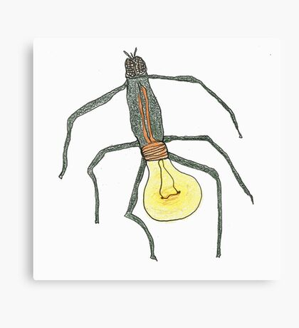 light bulb bug Canvas Print
