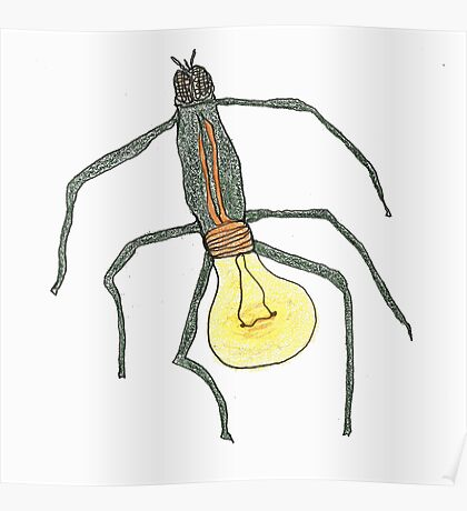 light bulb bug Poster