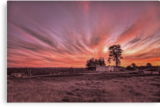"Silverdale Sunset Series (5) - ""End Of Day"" NSW, Australia by Josette Halls"