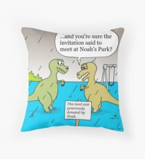 Noah's Park Throw Pillow