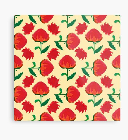 Bright waratah pattern Metal Print