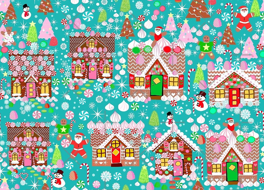 Christmas Gingerbread House Candy Village by MagentaRose