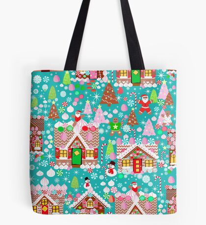 Christmas Gingerbread House Candy Village Tote Bag